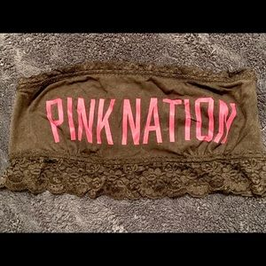 PINK bandeau never used. Smoke free home.